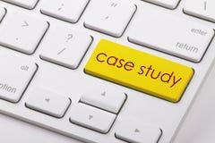 Case study. Word written on computer keyboard Stock Photos
