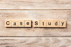 Case study word written on wood block. case study text on table, concept.  stock photography