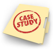 Case Study Words Stamped Manila Folder File Example Document