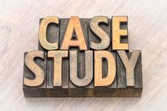 Case study words in wood type. Case study - word abstract in vintage letterpress wood type printing blocks stock photography