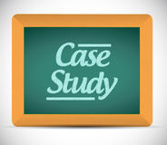 Case study written on a blackboard illustration Royalty Free Stock Images