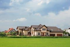Case suburbane moderne Immagini Stock