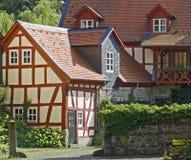Case tedesche dell'azienda agricola Immagine Stock