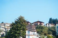 Case a terrazze sul lago Maggiore Fotografie Stock Libere da Diritti