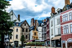 Case tipiche della città di Orleans in Francia Fotografie Stock