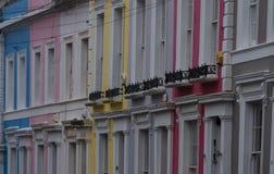 Case tipiche in strada di Portobello Immagine Stock Libera da Diritti
