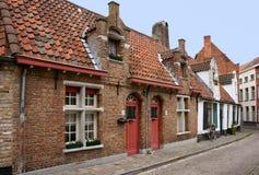Case tradizionali a Bruges Fotografia Stock