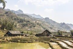 Case tribali vicino a Sapa Fotografia Stock