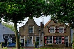 Case urbane della città olandese Zuidland Fotografia Stock Libera da Diritti