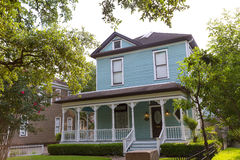 Case urbane di Houston Heights Blvd nel Texas Stati Uniti Fotografia Stock Libera da Diritti