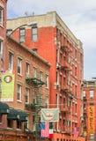 Case variopinte della poca Italia, New York immagini stock libere da diritti