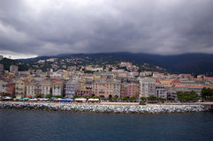 Case variopinte di Bastia Fotografia Stock