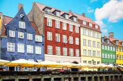Case variopinte di Copenhaghen immagini stock