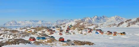 Case variopinte in Groenlandia Fotografia Stock Libera da Diritti