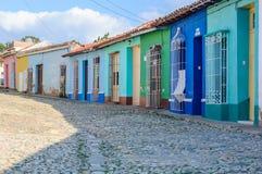 Case variopinte in Trinidad, Cuba Immagine Stock Libera da Diritti