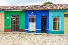 Case variopinte in Trinidad, Cuba Fotografia Stock