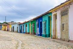 Case variopinte in Trinidad, Cuba Immagine Stock