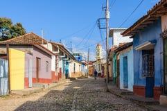 Case variopinte in Trinidad, Cuba Fotografia Stock Libera da Diritti