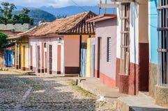 Case variopinte in Trinidad, Cuba Fotografie Stock Libere da Diritti