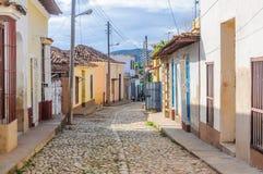 Case variopinte in Trinidad, Cuba Fotografie Stock