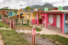 Case variopinte in Vinales Cuba fotografia stock libera da diritti