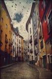 Case vive della città di Cuenca, Spagna immagini stock