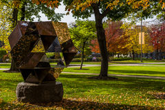 Case Western Reserve University - Cleveland, Ohio. Artwork at the Musselman Quadrangle at Case Western Reserve University in Cleveland, Ohio Stock Image