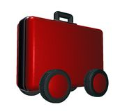 Case on wheels Stock Photos