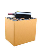 Case of Wine Isolated Stock Images