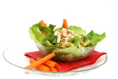 Casear Salad. Caesar salad with carrots for lunch Stock Photography