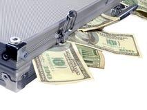 Caseful di soldi Fotografia Stock