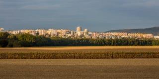 Caseggiato nella città di Bratislava Fotografia Stock