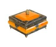 Casella arancione Fotografia Stock