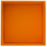 Casella arancione Fotografia Stock Libera da Diritti