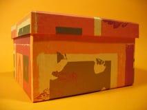 Casella arancione II Fotografia Stock