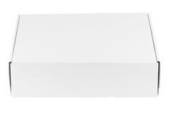 Casella bianca in bianco fotografie stock