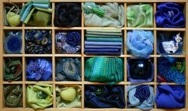 Casella blu immagini stock