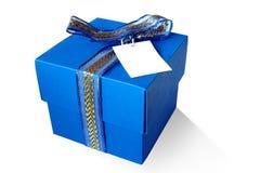 Casella blu Fotografie Stock Libere da Diritti