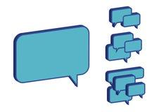 Casella blu di chiacchierata Immagini Stock
