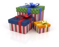 Casella colorata con i regali Fotografie Stock