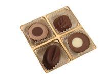 Casella con cioccolato fotografie stock