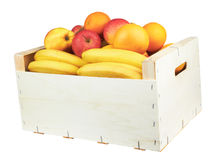 Casella con frutta fotografia stock libera da diritti
