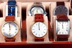 Casella con gli orologi Immagine Stock Libera da Diritti