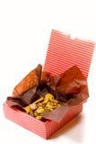Casella con i biscotti Immagini Stock Libere da Diritti