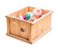 Casella con i giocattoli di natale Fotografia Stock Libera da Diritti
