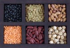 Casella con i legumi Fotografie Stock