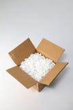 Casella con il modulo dell'imballaggio fotografia stock