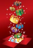 Casella con il regalo Fotografie Stock