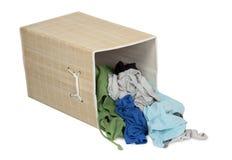 Casella con la lavanderia sporca Fotografia Stock Libera da Diritti