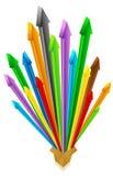 Casella con le frecce Immagini Stock